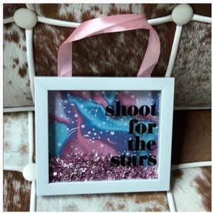 Sequin decorative wall Sign 5 x 6 in